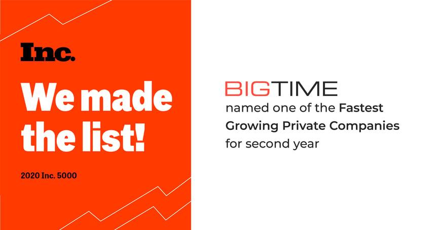 BigTime Makes Inc 5000 List