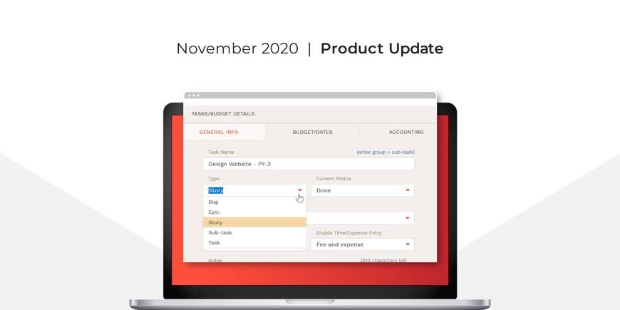 November 2020 BigTime Release
