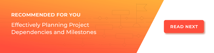 read next - effectively planning project dependencies and milestones